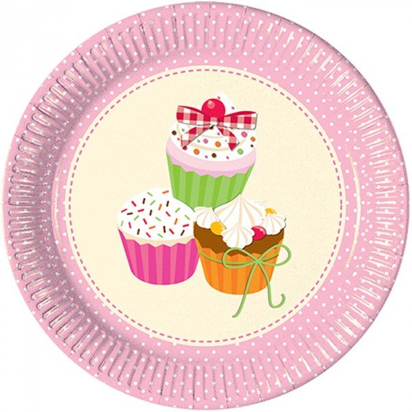 Delicious Cupcake Paper Plates (Pack of 10)  sc 1 st  Party Smarti & Delicious Cupcake Paper Plates (Pack of 10) u2013 Party Smarti
